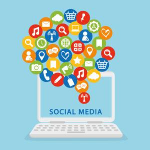 Social Media design. Media icon. Flat illustration